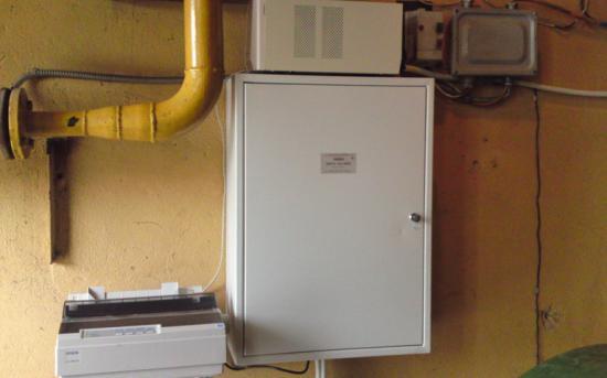 Шкаф учета газа с ИБП и принтером