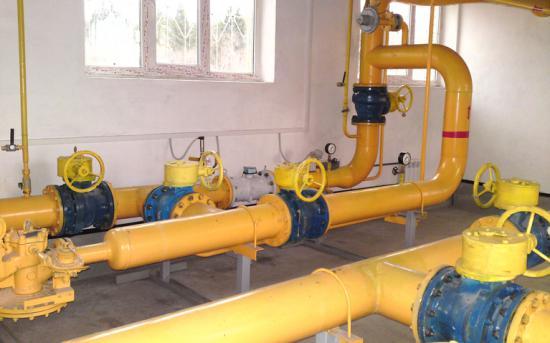 Измерительные участки трубопровода внутри ГРП